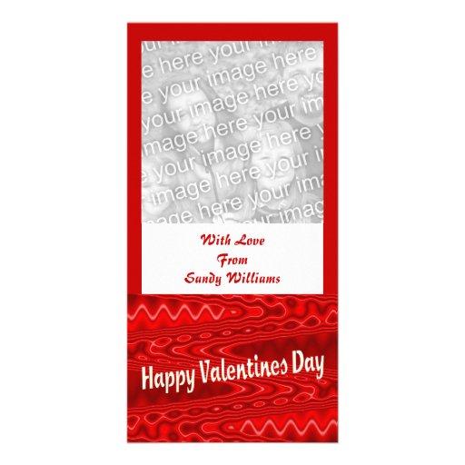 día de San Valentín feliz rojo Tarjeta Personal