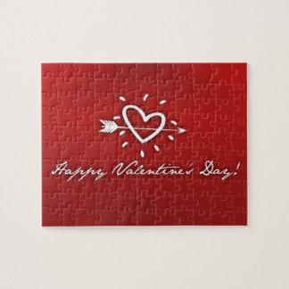 Día de San Valentín feliz Rompecabezas Con Fotos