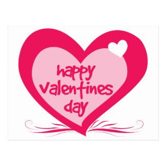 Día de San Valentín feliz Tarjeta Postal
