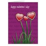 Día de San Valentín feliz Tarjeton