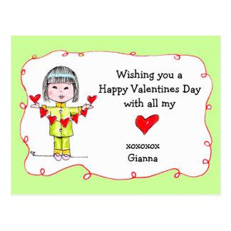 ¡Día de San Valentín feliz w/all mi corazón! Postales