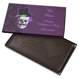 Día de San Valentín gótico púrpura personalizado Chocolate Negro Personalizado