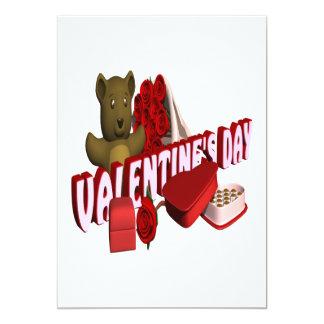 """Día de San Valentín Invitación 5"""" X 7"""""""