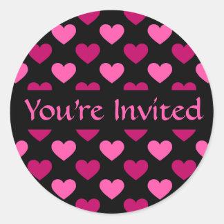 Día de San Valentín invitado Pegatina Redonda