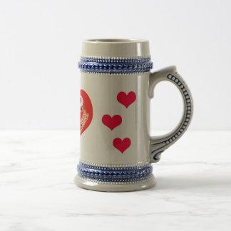 día de San Valentín Jarra De Cerveza