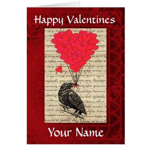 Día de San Valentín lindo divertido del pájaro del Tarjetas