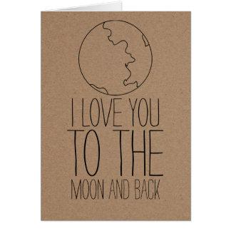 Día de San Valentín lindo rústico de la luna del Tarjeta De Felicitación