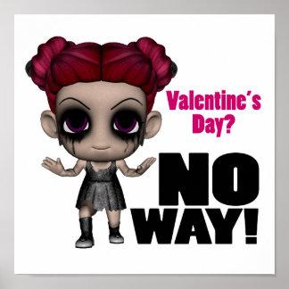 día de San Valentín ningún chica del punk de la ma Impresiones