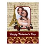 Día de San Valentín personalizado de la foto Tarjeta Postal