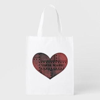 Día de San Valentín punky industrial sucio del Bolsa Para La Compra