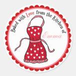 Día de San Valentín que cocina a los pegatinas del Etiquetas Redondas