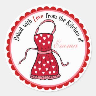 Día de San Valentín que cocina a los pegatinas del Pegatina Redonda