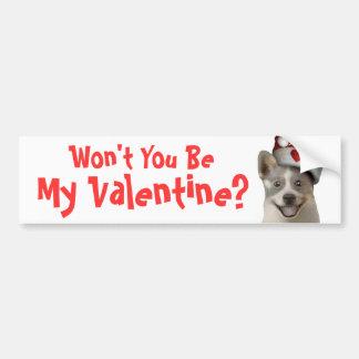 Día de San Valentín que pide el perro - productos  Pegatina Para Auto