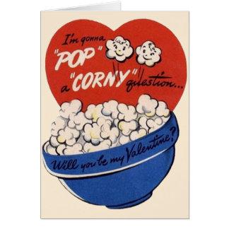 Día de San Valentín retro, estallido de las Tarjeta De Felicitación