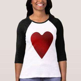 Día de San Valentín rojo grande del corazón el | Playera