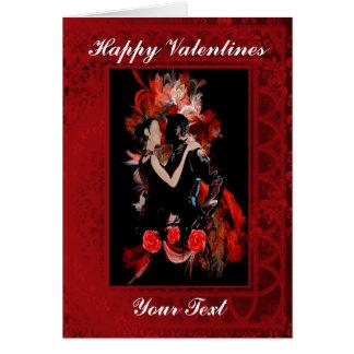 Día de San Valentín romántico de los bailarines Tarjeta De Felicitación