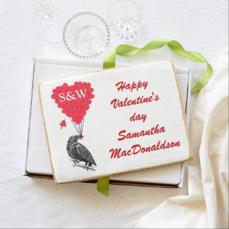 Día de San Valentín romántico del cuervo