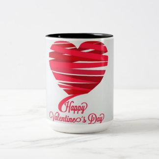 Día de San Valentín Taza De Café De Dos Colores