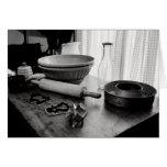 Día de Scene~Baking de la cocina del vintage Felicitacion