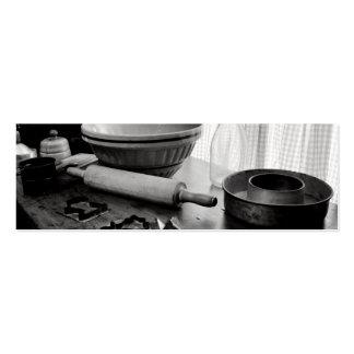 Día de Scene~Baking de la cocina del vintage Tarjetas De Visita Mini