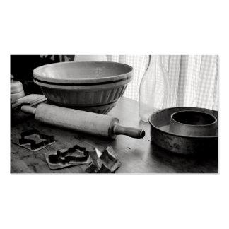 Día de Scene~Baking de la cocina del vintage Tarjetas De Visita