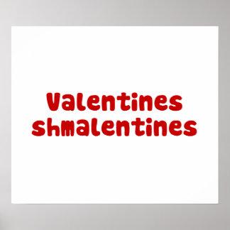 Día de Schmalentines del día de San Valentín Póster