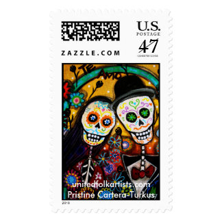 Día de sellos del Muerto-Boda