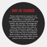 Día de silencio etiquetas