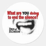 Día+de+Silencio Pegatina