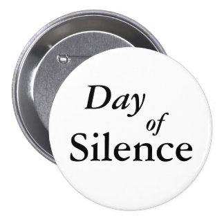 Día de silencio pin redondo 7 cm
