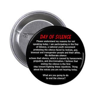 Día de silencio pin redondo de 2 pulgadas