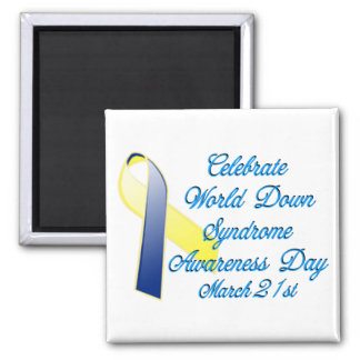 Día de Síndrome de Down Imán Cuadrado