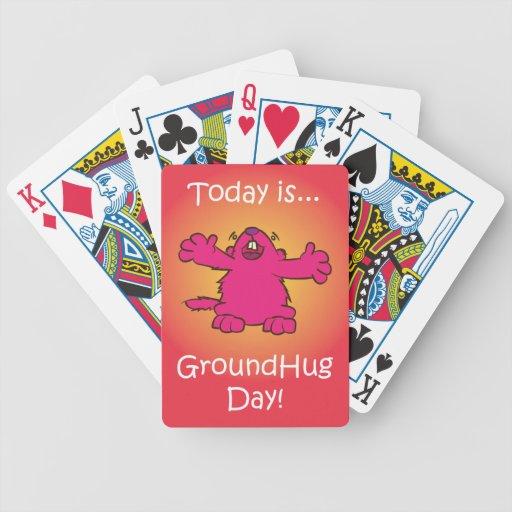 Día de tierra del abrazo cartas de juego