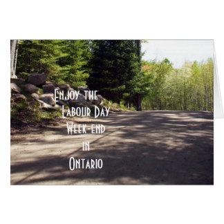 Día de trabajo en Ontario Tarjeta