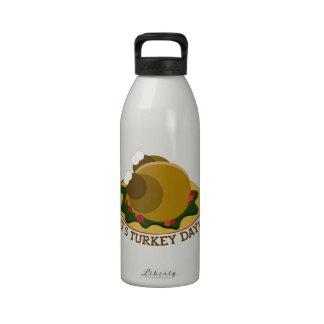 Día de Turquía Botellas De Beber