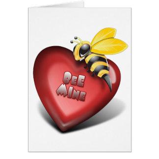 Día de Valenines, mina de la abeja también Tarjetas