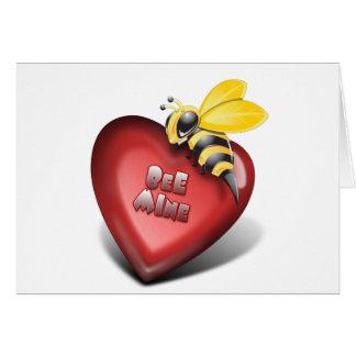 Día de Valenines, mina de la abeja también Tarjeta