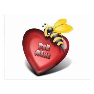 Día de Valenines, mina de la abeja también Postal