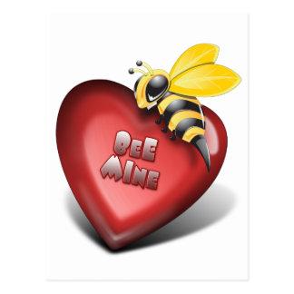 Día de Valenines, mina de la abeja también Tarjeta Postal