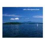 Día de verano de Winnipesaukee del lago Postal