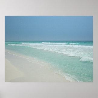 Día de verano precioso en la playa impresiones