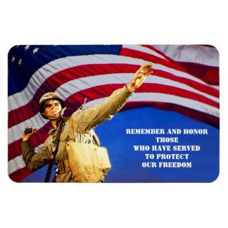 """Día de veteranos 4"""" X 6"""" imanes del regalo"""
