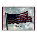 Día de veteranos, bandera americana y veterano de  tarjeton