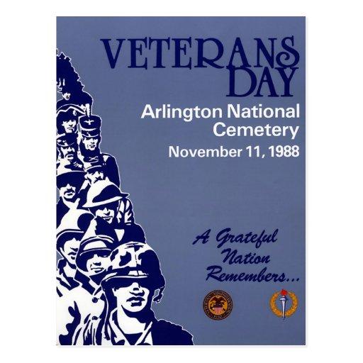 Día de veteranos del vintage, 1988 - tarjeta postal