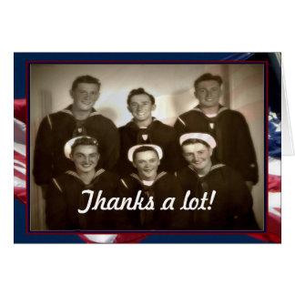 ¡Día de veteranos del vintage, gracias mucho! - Tarjeta De Felicitación