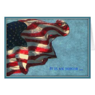 Día de veteranos, gracias - tarjeta de
