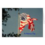 Día de veteranos, gracias - tarjeta de felicitació