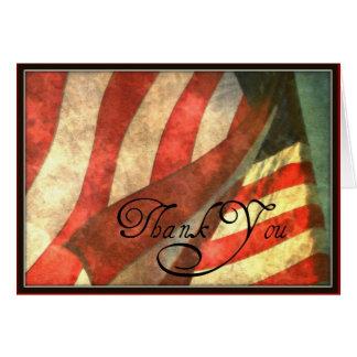 Día de veteranos, gracias tarjeta de felicitación