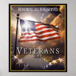 Día de veteranos - honrando a todos que sirvieron posters