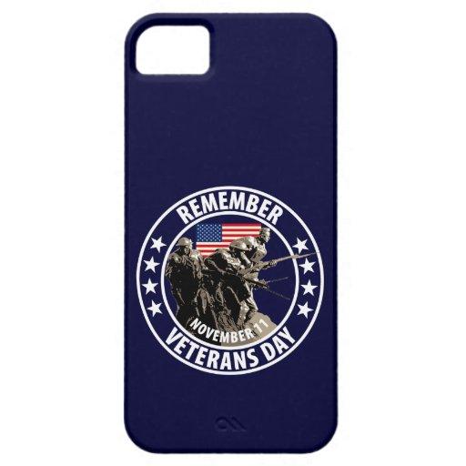 Día de veteranos iPhone 5 cárcasas